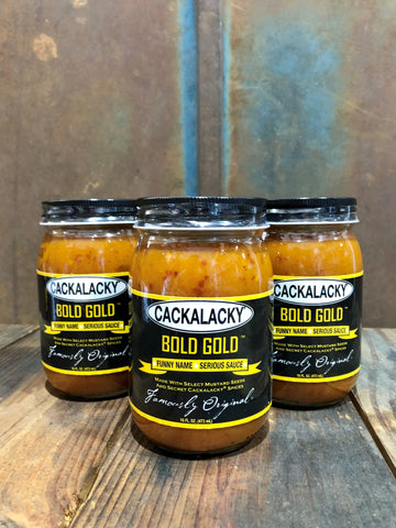 Cackalacky® Bold Gold™ - 16 oz. Jar - 3-Pack