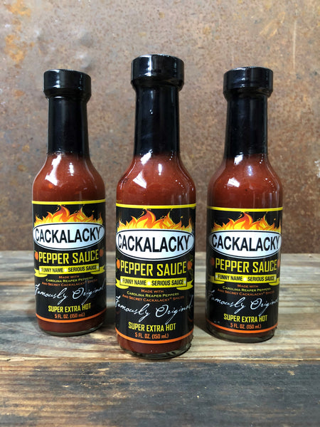 *NEW!* Cackalacky® Pepper Sauce - Super Extra Hot - Trio