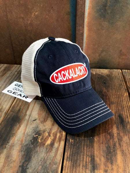 Cackalacky® Trucker Ball Cap - Red, White & Blue