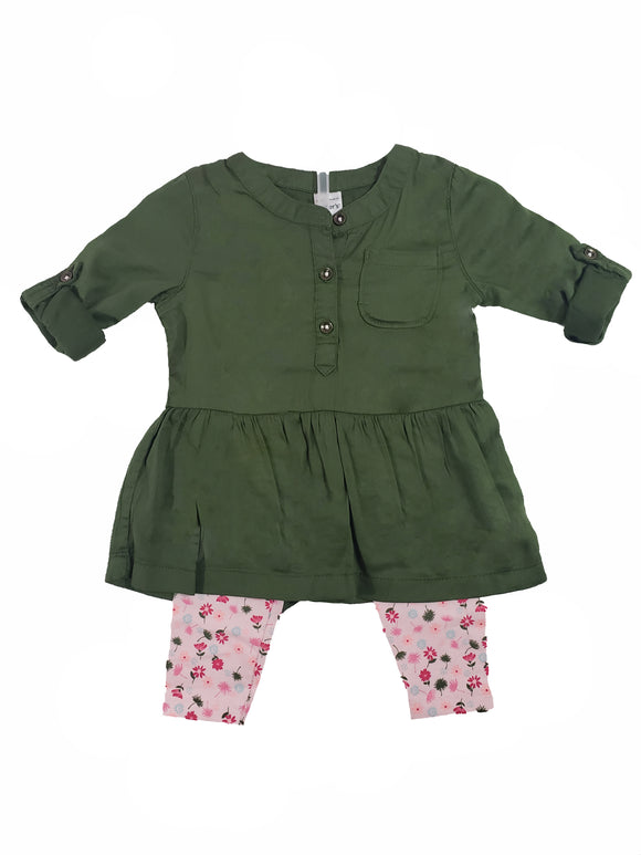 Toddler Girl Jessica Tunic w/ Floral Leggings
