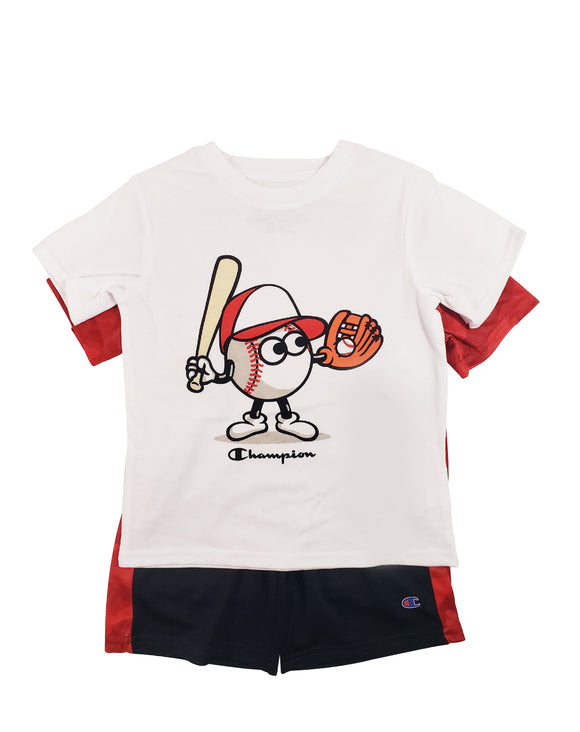 Toddler Boy Batter's Up Athletic 3-piece Set