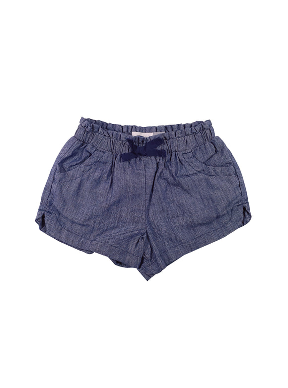 Baby Girl Denim Ruffle Waist Shorts