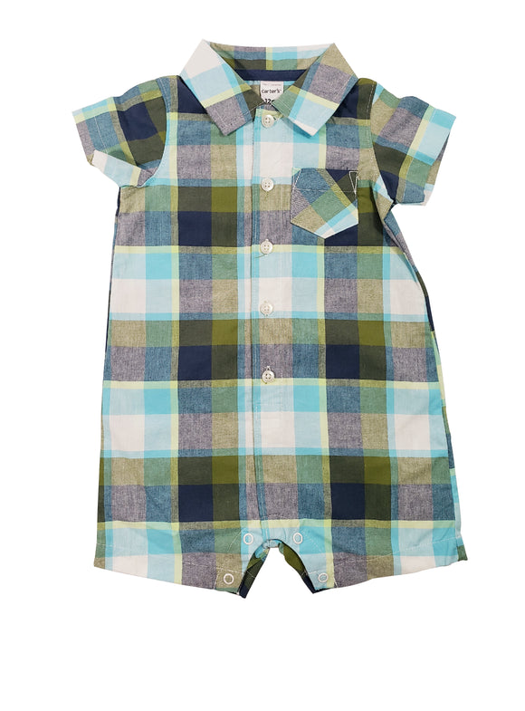 Baby Boy Plaid Big Boy Sunsuit