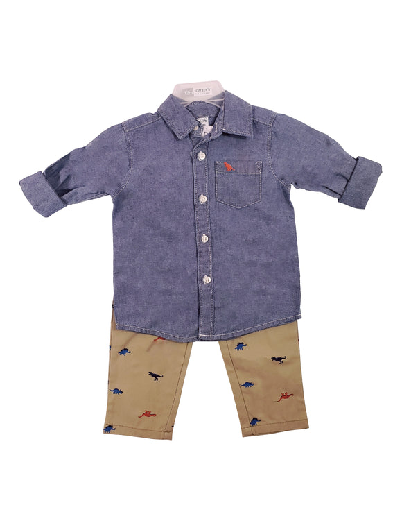 Toddler Boy Dapper Dino 2-piece Set