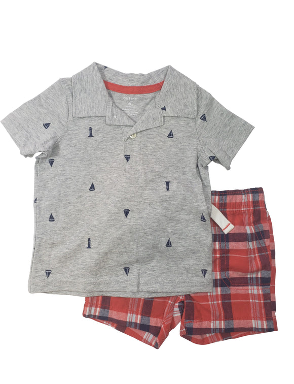 Toddler Boy Nautical 2-piece Set