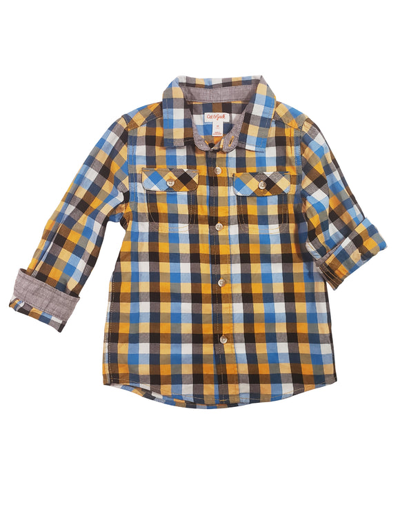 Toddler Boy Plaid Button-Down Shirt