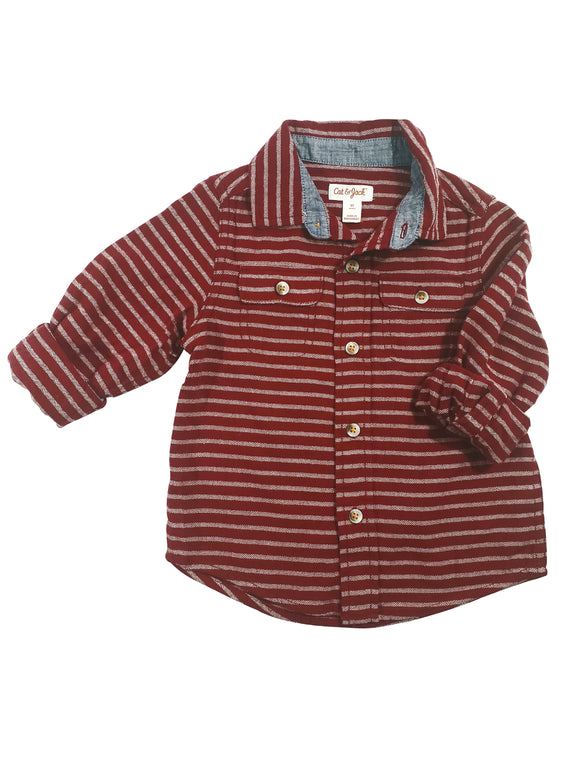Toddler Boy Sunset Button-Down Shirt
