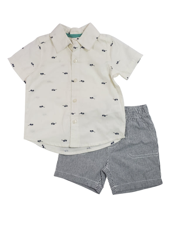 Toddler Boy Cool Guy Button Down 2-piece Set