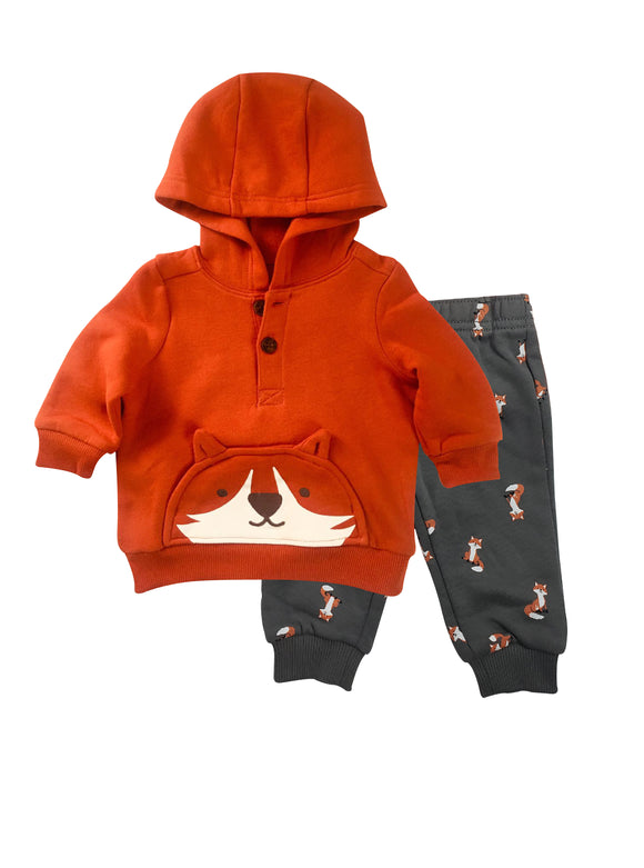 Baby Boy Clever Fox 2-piece Set