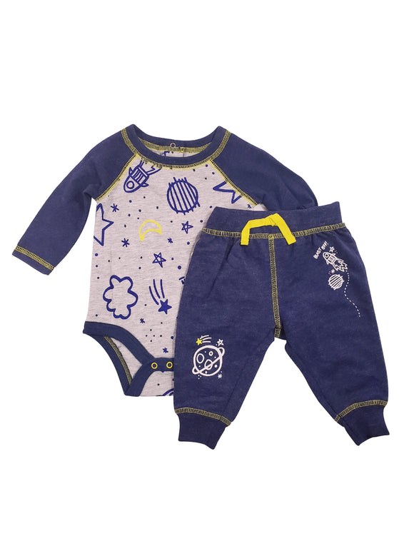Baby Boy Galaxy Space Lounger Set