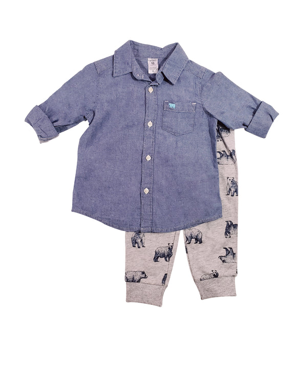 Baby Boy Grizzly Jogger 2-piece Set