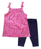Toddler Girl Pink Tunic w/ Bow 2-piece Set