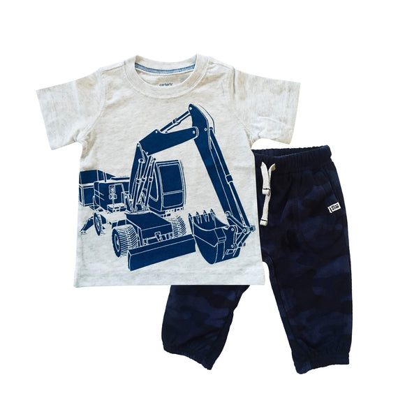 Baby Boy Backhoe Digger 2-piece Set