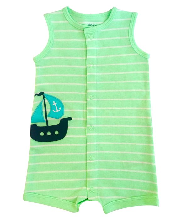 Baby Boy Blue Sails Sunsuit