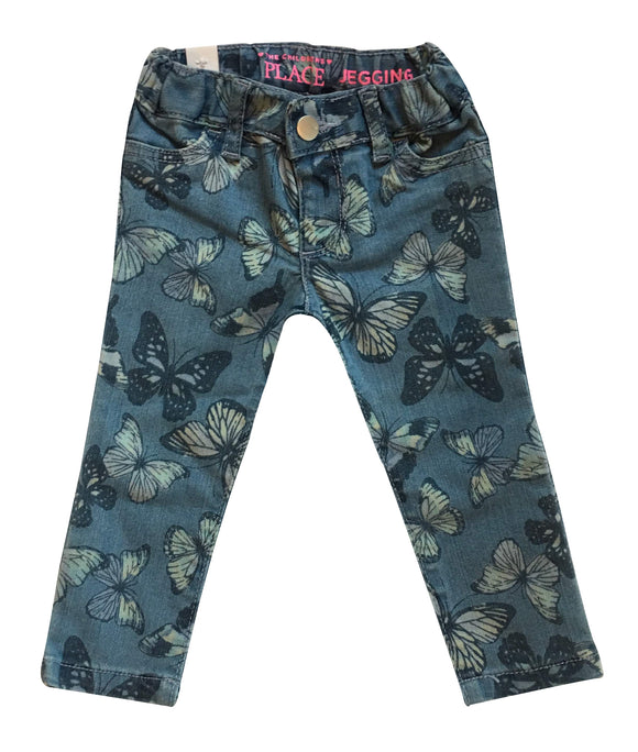 Baby Girl Butterfly Indigo Wash Jeggings