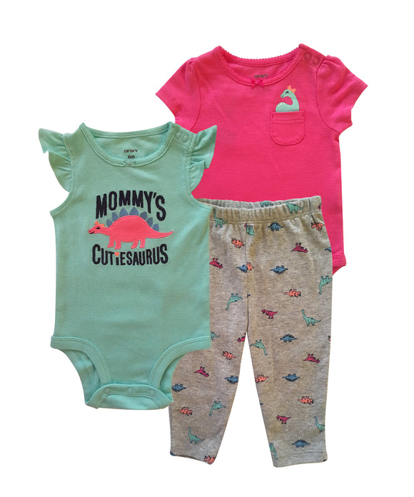 Baby Girl Mommy's CutieSaurus 3-piece Set