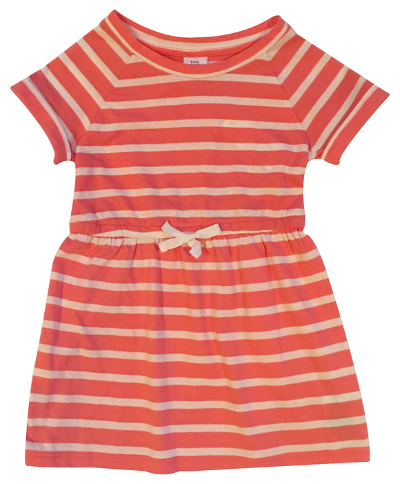 Toddler Girl Striped Drawstring Dress