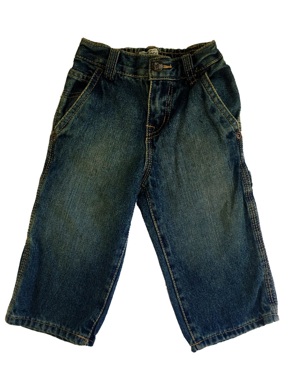 Baby Boy Denim Antique Stone Utility Jeans 7 pocket