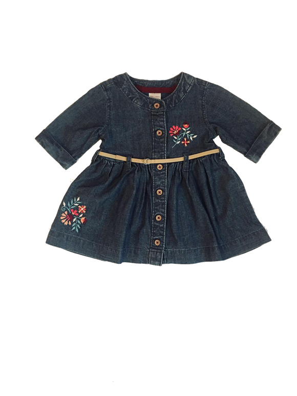 Baby Girl Jean Belted Dress (Dress ONLY)