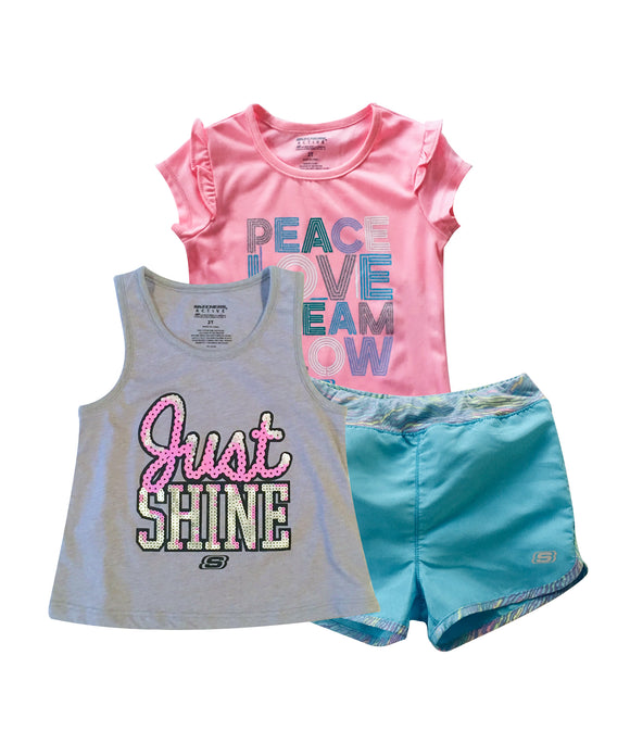 Toddler Girl Just Shine 3-piece Activewear Set