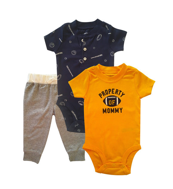 Baby Boy Property of Mommy 3-piece Set