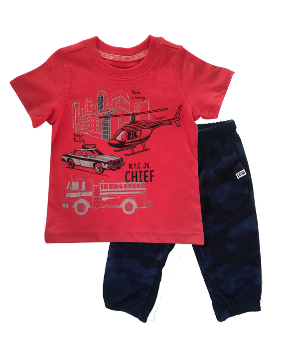 Baby Boy Rescue Jogger 2-piece Set