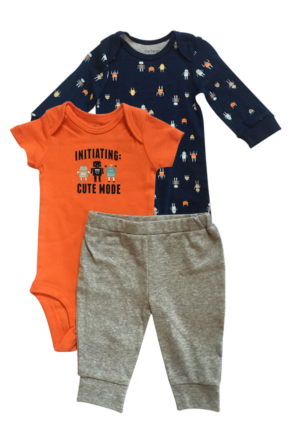 Baby Boy Cute Mode Robots 3-piece Set