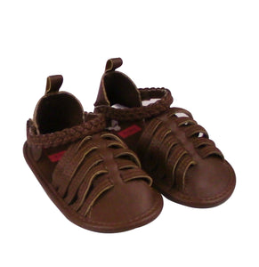 Baby Girl Brown Ankle Sandals