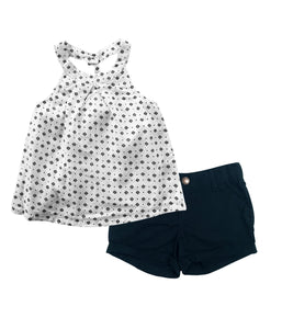Toddler Girl Star Mono 2-piece Set