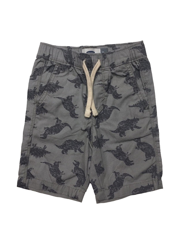 Toddler Boy Dino Canvas Shorts