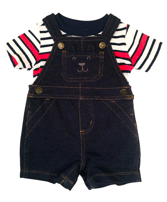Baby Boy Beary Overall 2-piece Set