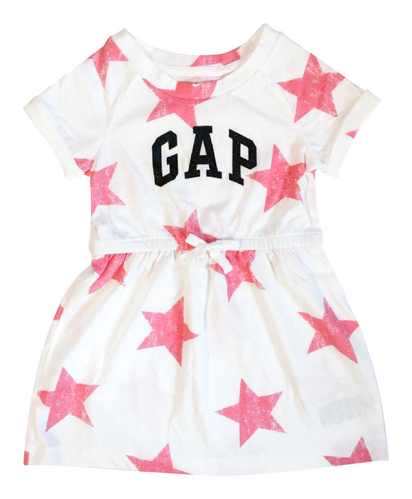 Toddler Girl Star Drawstring Dress