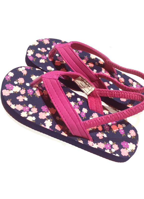Girls Flower Power Slingbacks