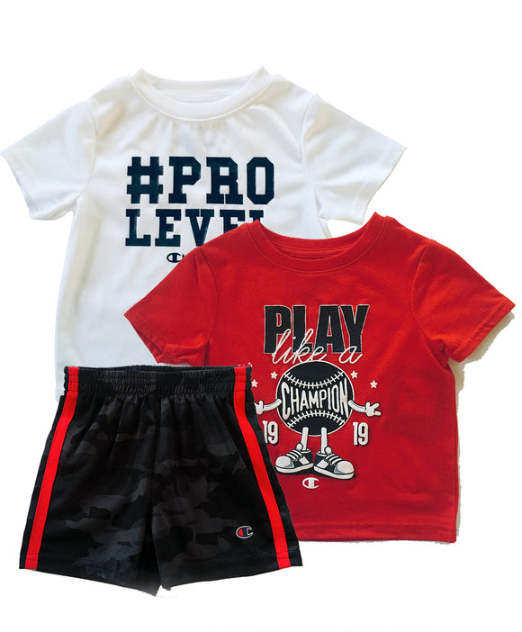 Toddler Boy #PRO Baseball Athletic 3-piece Set