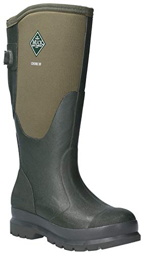 Muck Boot Womens Chore Adjustable Tall Wellington Boots (6 US) (Moss)