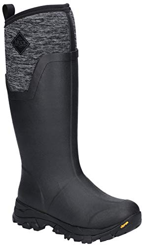 Muck Boot Women's Arctic Ice Tall Snow Boot, Black/Heather Jersey, 6 Regular US