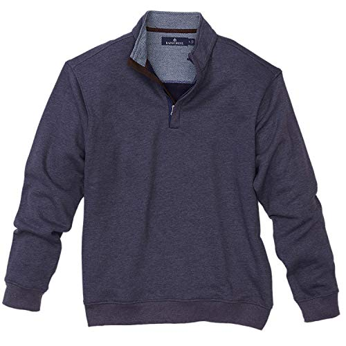 Rainforest Quarter Zip Heathered Knit Pullover