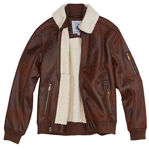Rainforest Sand Nubuck Faux Shearling Bomber Jacket