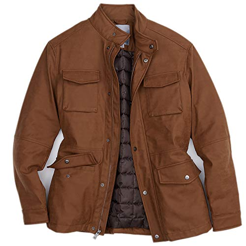 Rainforest Faux Nubuck Military Parka Jacket for Men