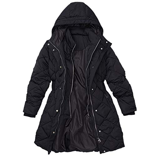 Rainforest Diamond Quilted ThermoLuxe Winter Jacket for Women