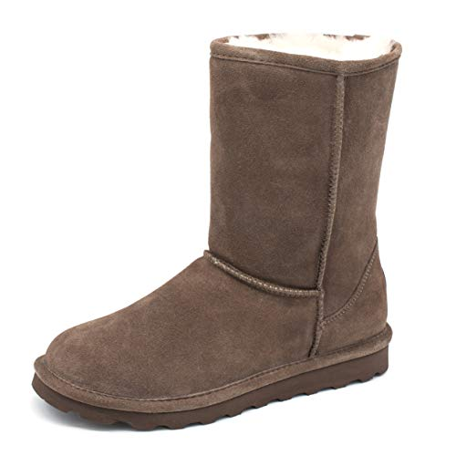 BEARPAW Elle Short Mid-Calf Boots for Women with Stain Repellent Treatment