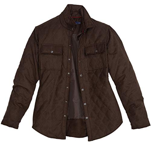 Rainforest Microsuede Diamond Quilted Shirt Jacket