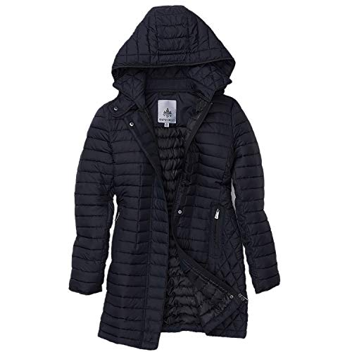 Rainforest Horizontal Quilted Thermoluxe Filled Jacket with Hood - Winter Coat for Women