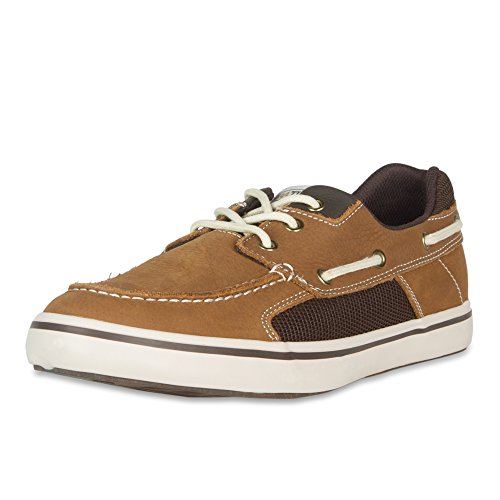Xtratuf Finatic II Men's Leather Deck Shoes, Chocolate, 9
