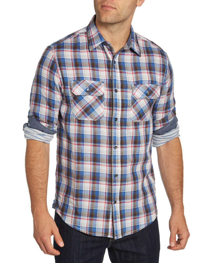 Flag & Anthem Men's Double Pocket Western Snap Button Shirt