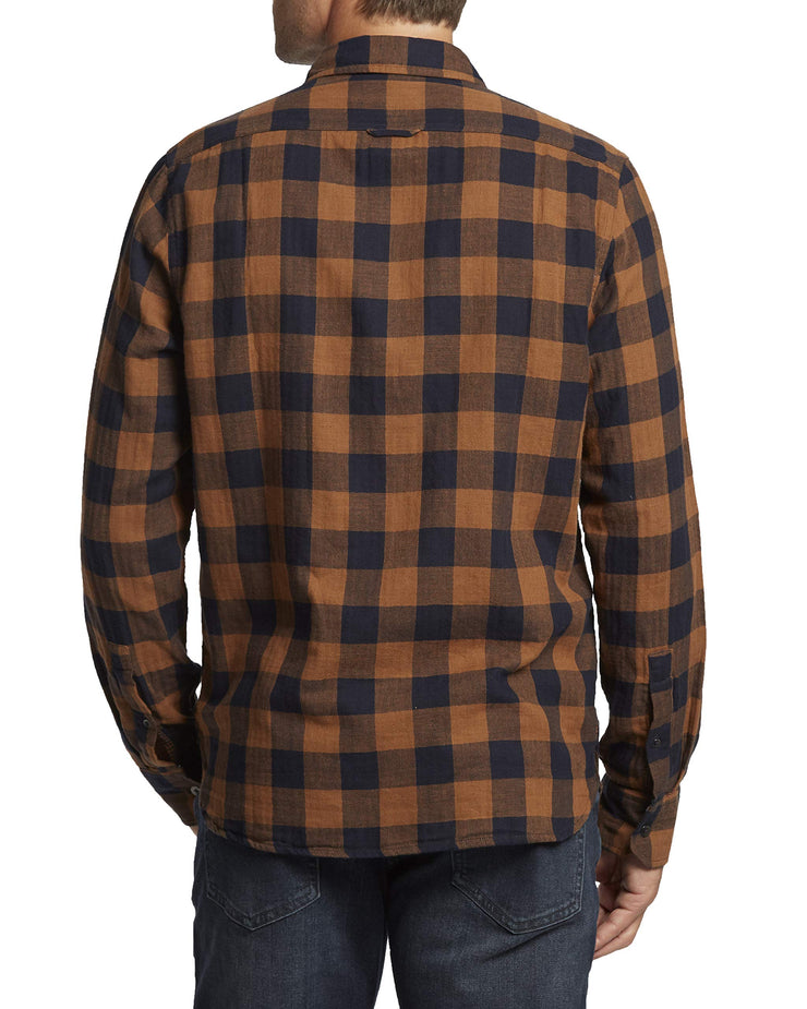 Flag & Anthem Men's Double Layer Plaid Long Sleeve Shirt