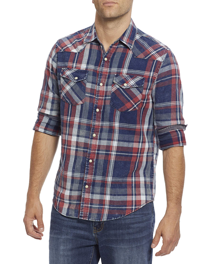 Flag & Anthem x Desert Son Men's Long Sleeve Western Snap Button Shirt