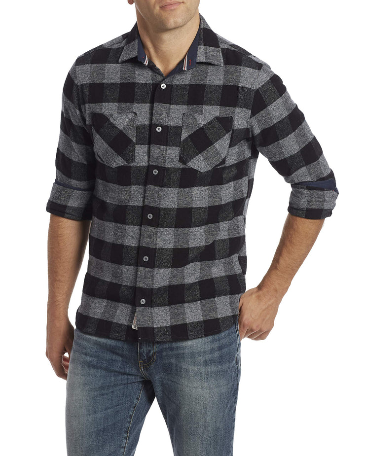 Flag & Anthem Men's Double Pocket Flannel Long Sleeve Shirt