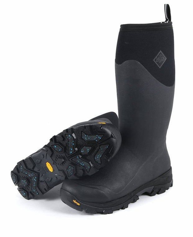 Muck Boots Men's Arctic Ice Extreme Conditions Tall Rubber Boot With Arctic Grip - BLACK