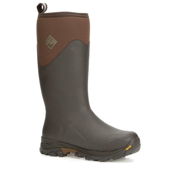 Muck Boots Men's Arctic Ice Extreme Conditions Tall Rubber Boot With Arctic Grip - BROWN